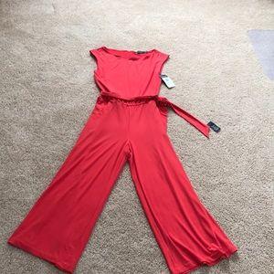 Lauren Ralph Lauren Pants Nwt Small Red Jumpsuit Poshmark